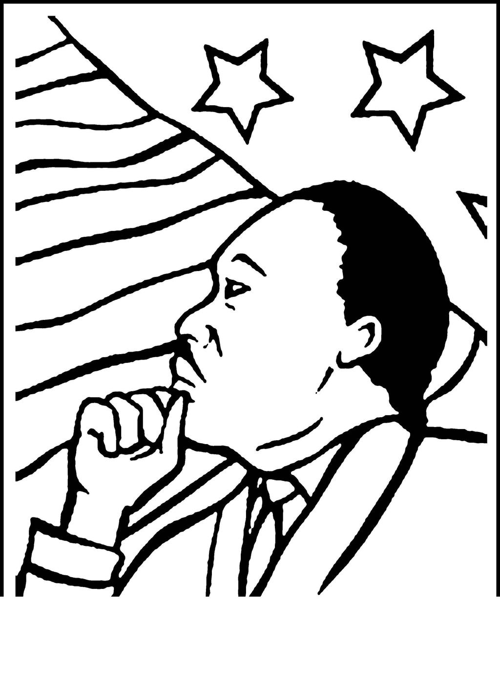 Martin Luther King Jr Day Coloring Pages Mlk Drawing Fan Art Free