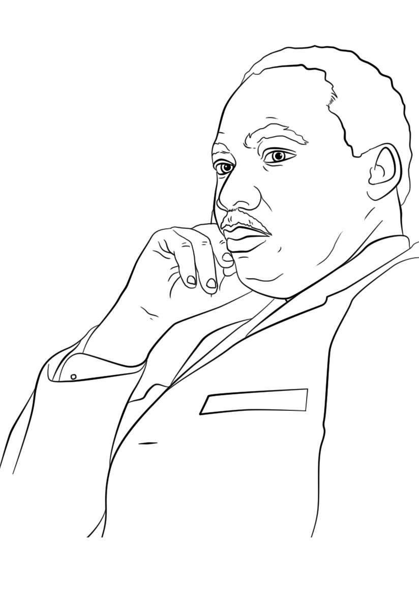 image relating to Martin Luther King Worksheets Free Printable called Martin Luther King Jr Working day Coloring Web pages Worksheet - Totally free