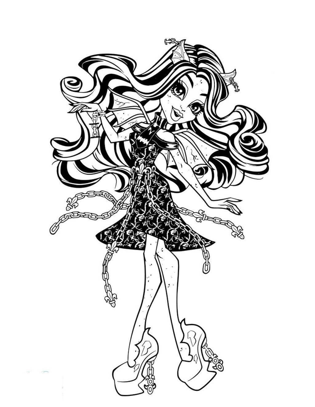 Monster High Coloring Pages Monster High For Preschool Free