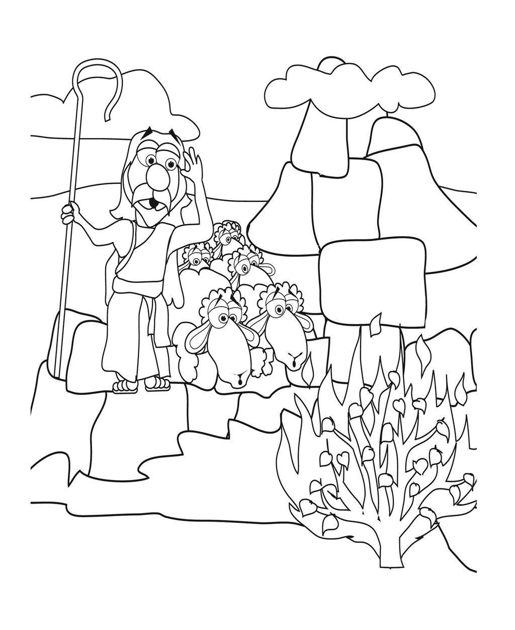 Moses Passover Coloring Pages And Exodus - Free Printable Coloring Pages