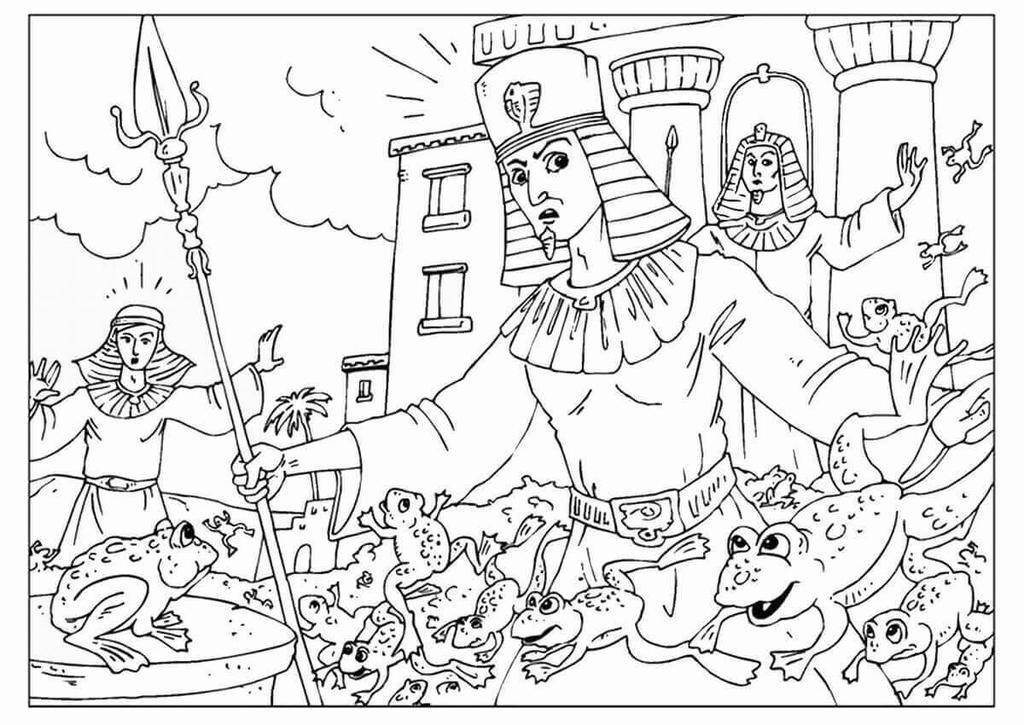 Moses Passover Coloring Pages Pesach Sheets - Free Printable ...
