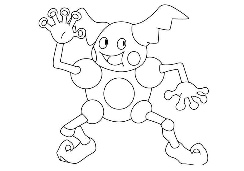 Free Mr Mime from Pokemon Coloring Pages printable