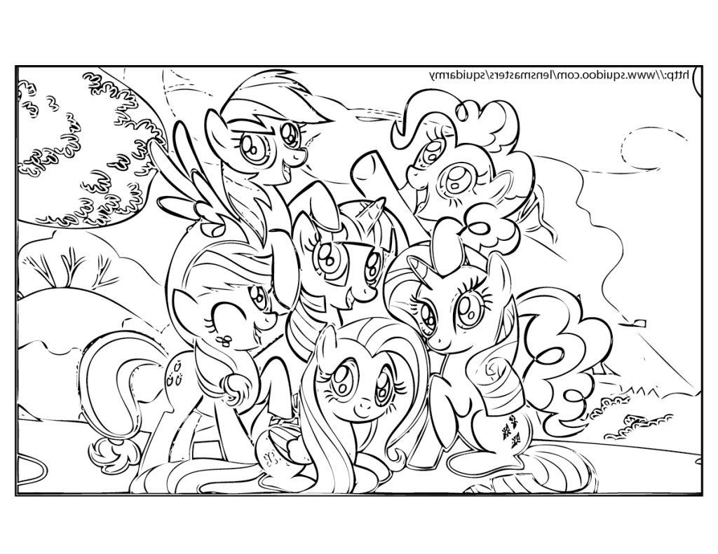 Free My Little Pony Friendship Is Magic Coloring Pages Mlp Outline printable