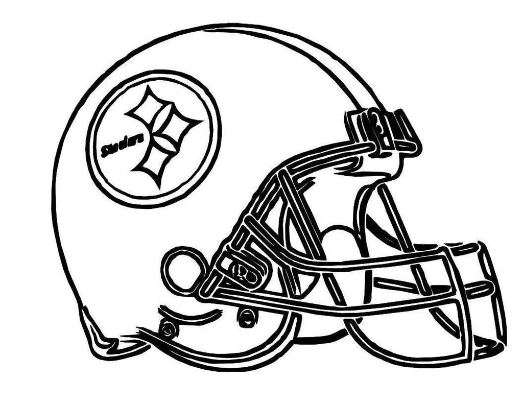 Nfl Football Helmets Coloring Pages Steelers Players For