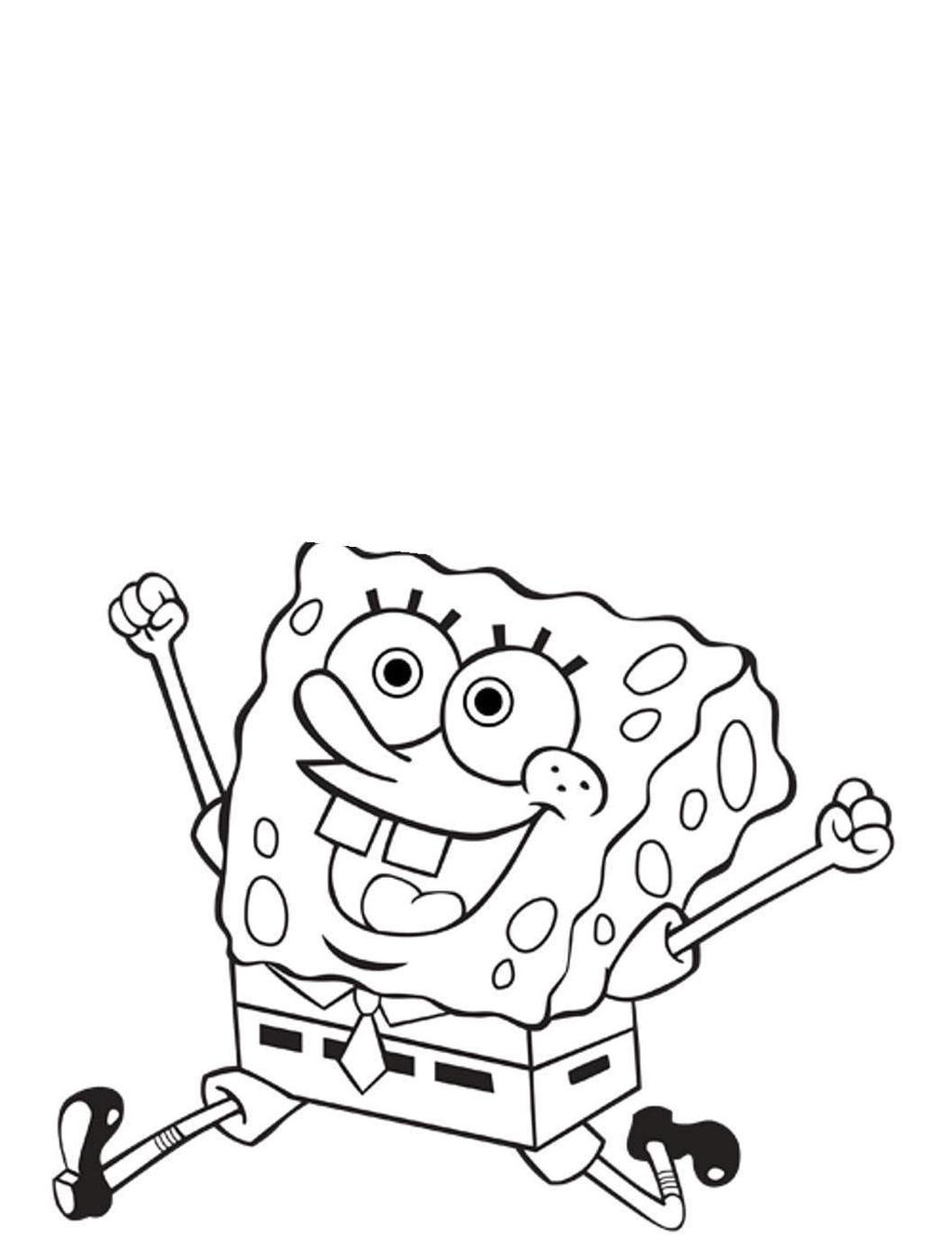 Nickelodeon Coloring Pages Fun Spongebob Hand Drawing Free