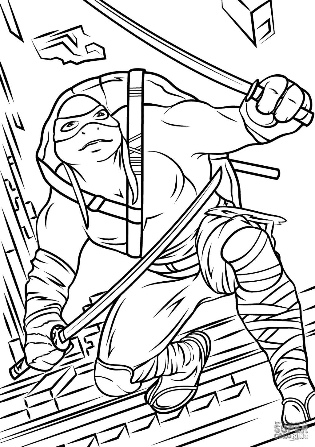 coloring pages turtles ninja songs - photo#20