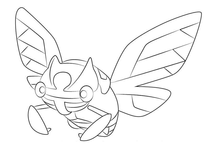 Free Ninjask from Pokemon Coloring Pages printable