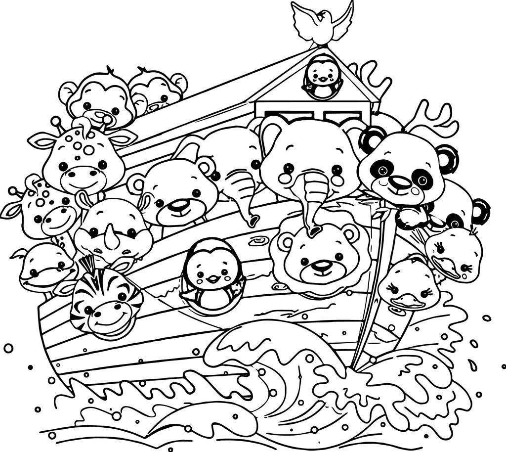 Noah The Ark Coloring Pages Mesin Co Linear - Free Printable ...