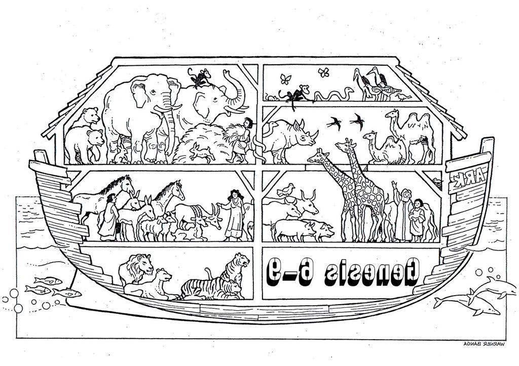 Noah The Ark Coloring Pages Noahs Kjv Activity - Free ...