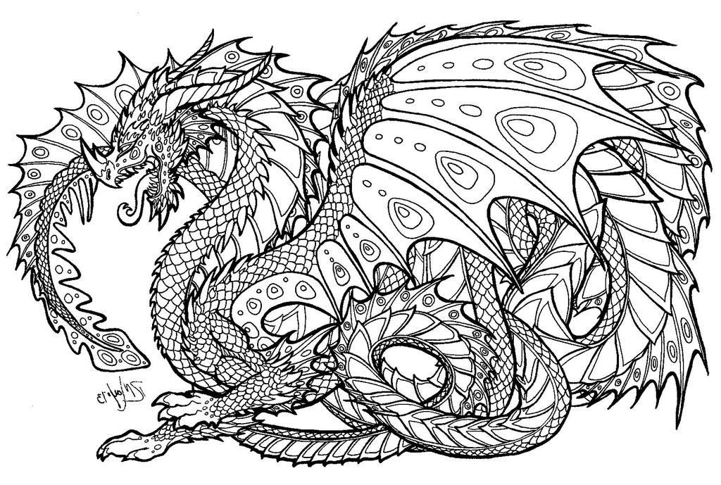 Printable Dragon Coloring Pages Advanced Dragons for Kids ...