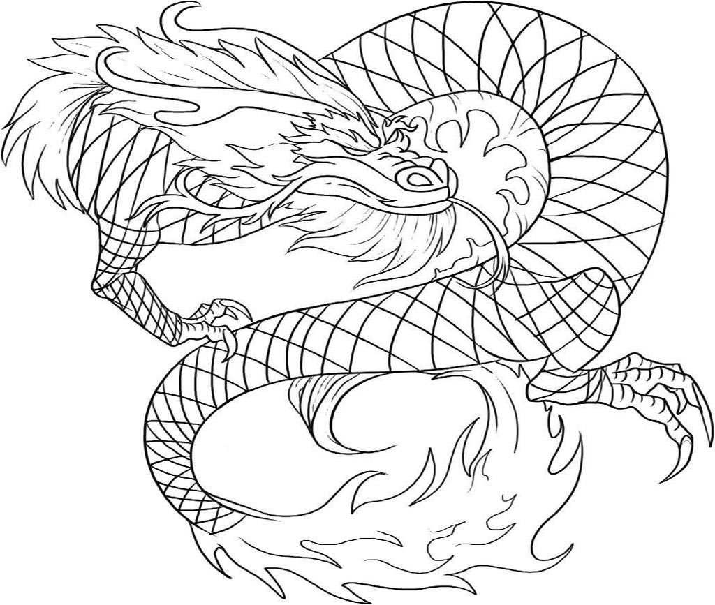 Free Printable Dragon Coloring Pages Chinese Kids Fan Art printable