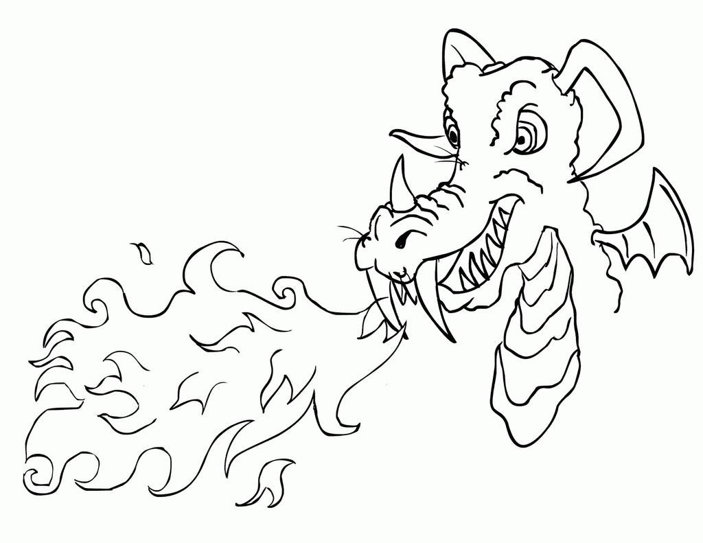 Printable Dragon Coloring Pages