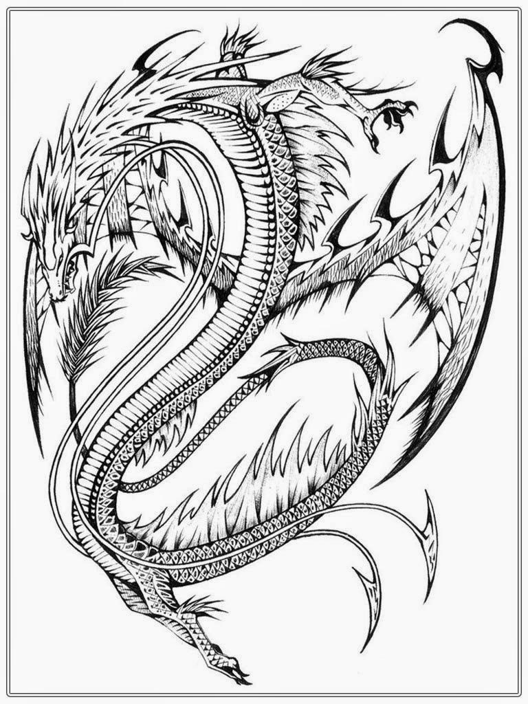 Free Printable Dragon Coloring Pages Sheets Fattkay Pictures printable