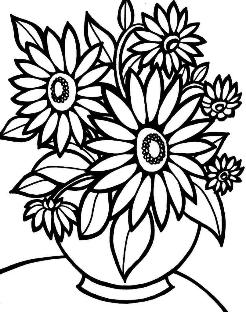 Realistic Flower Coloring Pages 283 Clipart - Free Printable ...