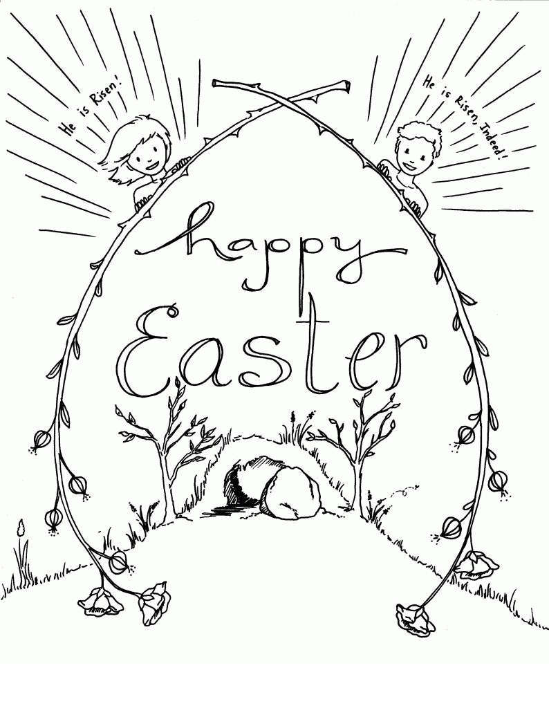 Religious Easter Coloring Pages Christian Halloween Linear