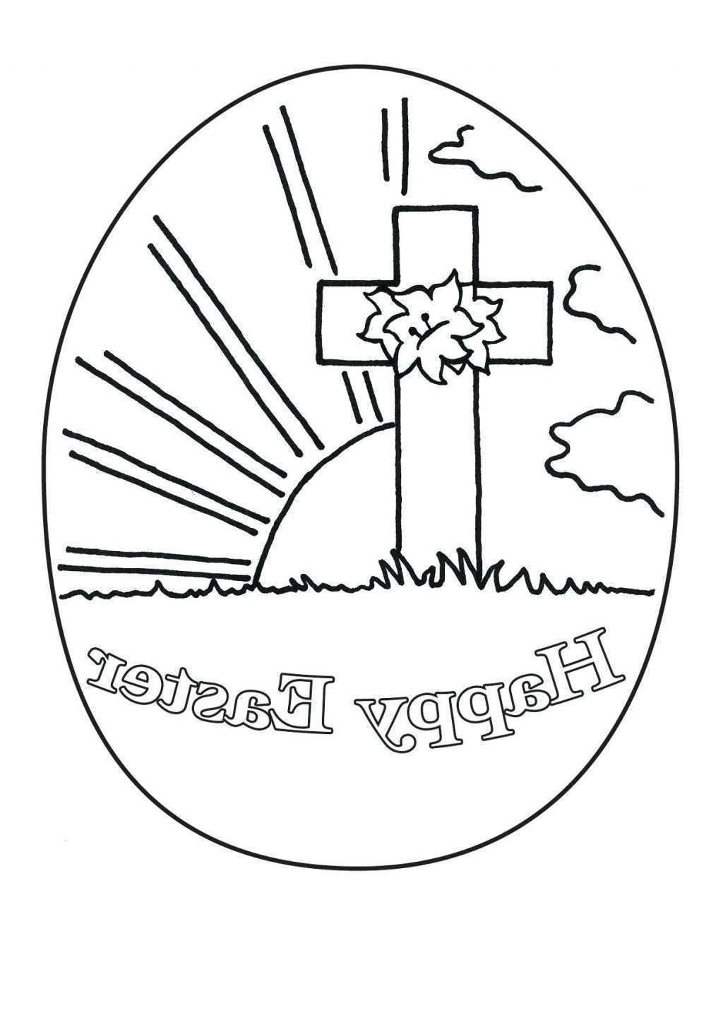 Religious Easter Coloring Pages insurrection Preschoolers for Girls ...