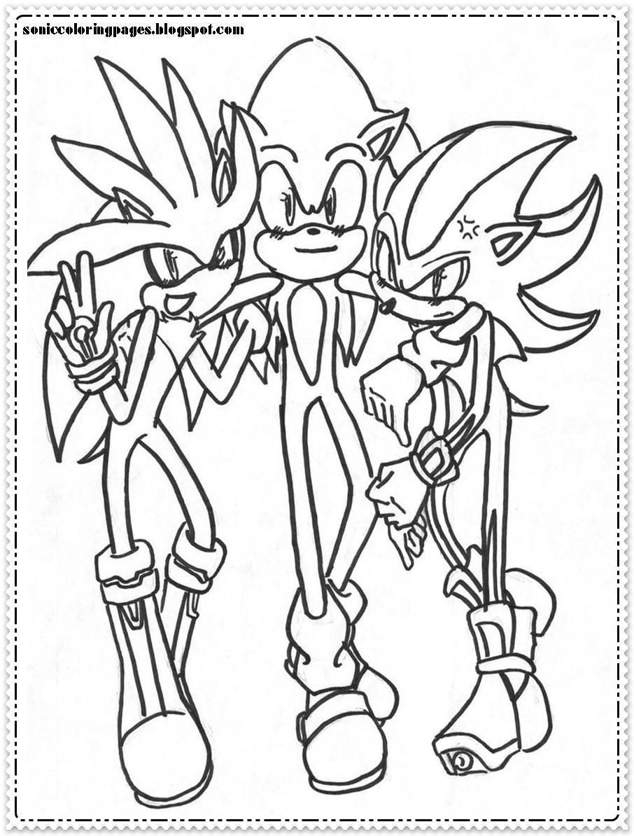 Robot Sonic Coloring Pages Neo
