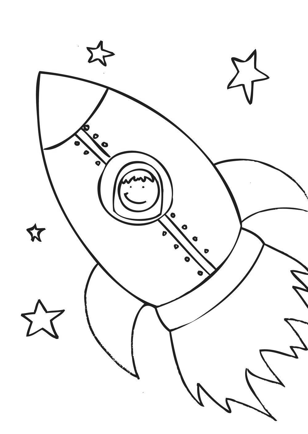 33 Rocket Ship Coloring Sheet - Free Printable Coloring Pages
