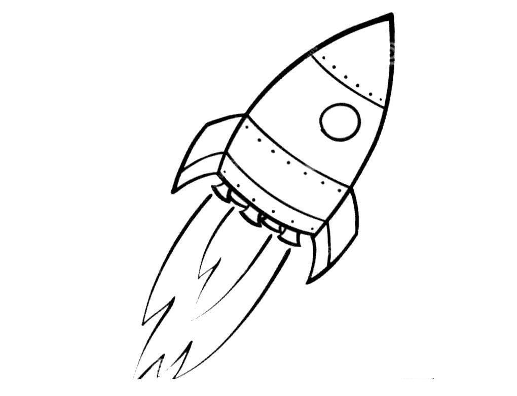 Rocket Ship Coloring Pages Easy Drawing For Girls