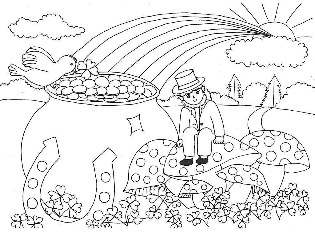 Saint Patrick Coloring Pages St Patricks Free Printable Coloring Pages