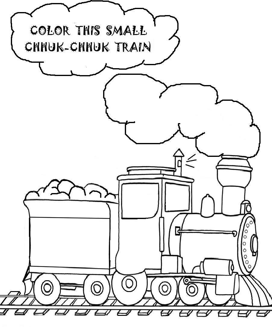 Simple Train Coloring Pages Kids Lineart Free Printable Coloring Pages