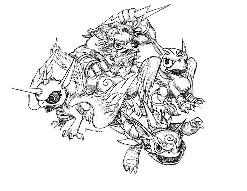 Skylander Giant Coloring Pages Giants Kids Activity - Free Printable ...
