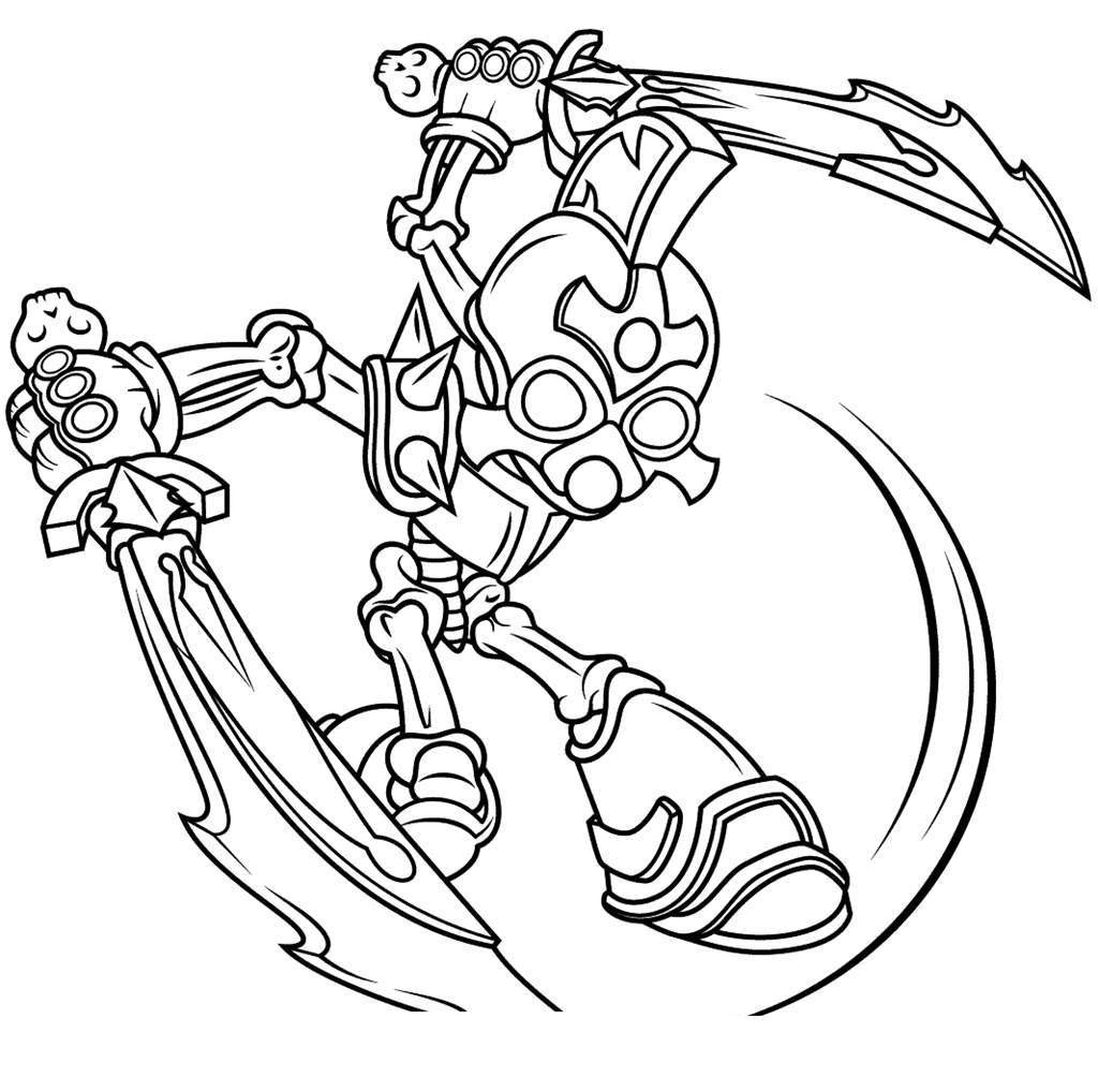 Skylanders coloring pages for boys ~ All Giants Skylanders - Free Colouring Pages