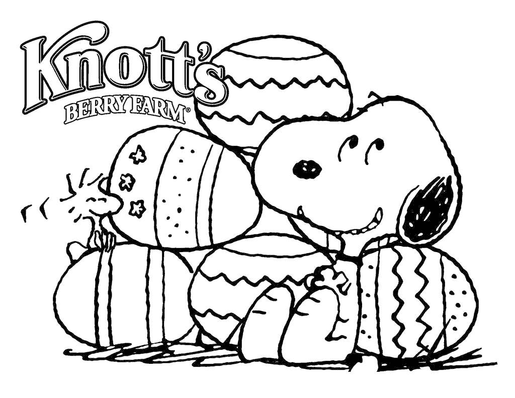 Snoopy And Woodstock Coloring Pages Colouring Easter Free