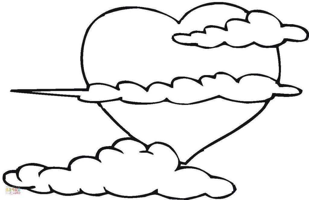sun cloud coloring pages - photo#14
