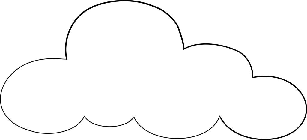 Sun And Clouds Coloring Pages Cloud Kids Clipart - Free Printable ...