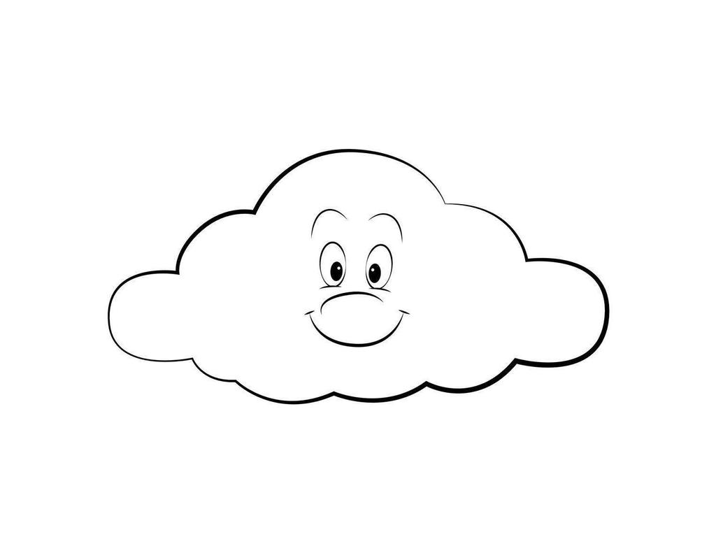 sun and clouds coloring pages - photo#10