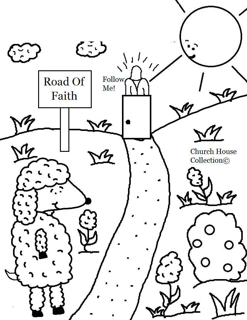 Sunday School Church Coloring Pages Preschoolers csb Hand ...