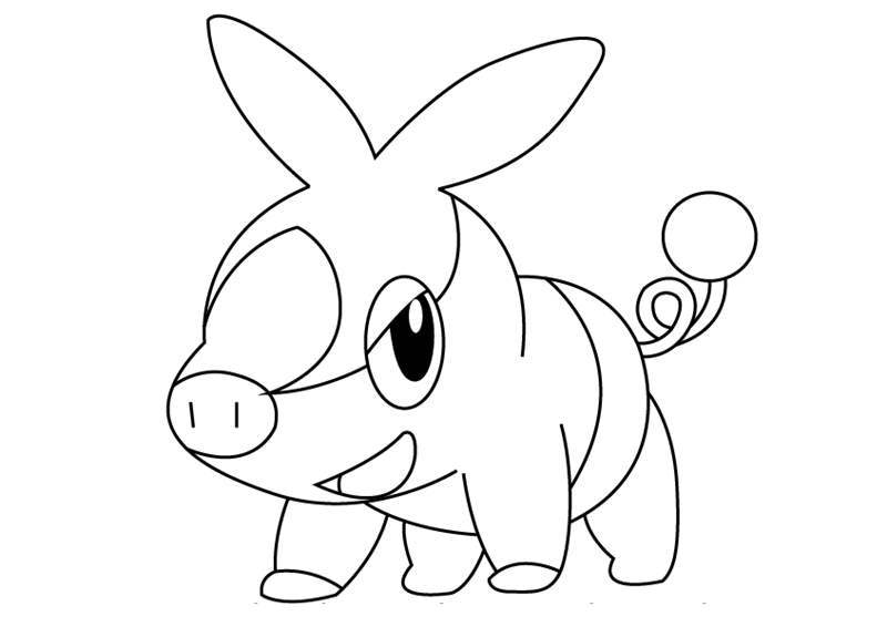 Free Tepig from Pokemon Coloring Pages printable