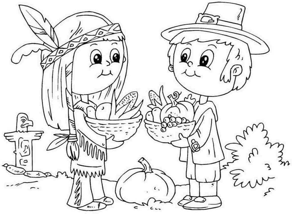 Thanksgiving Coloring Pages Disney Cartoons Characters