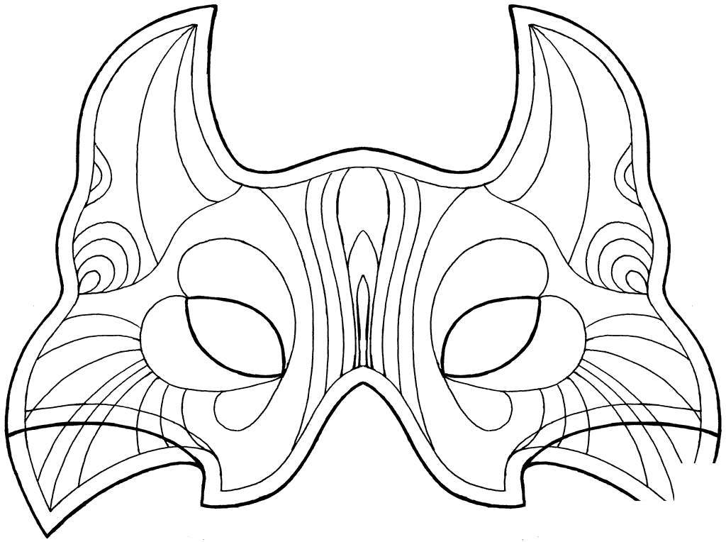 graphic relating to Tiki Mask Printable called Tiki Mask Coloring Web pages Property Linear - Free of charge Printable