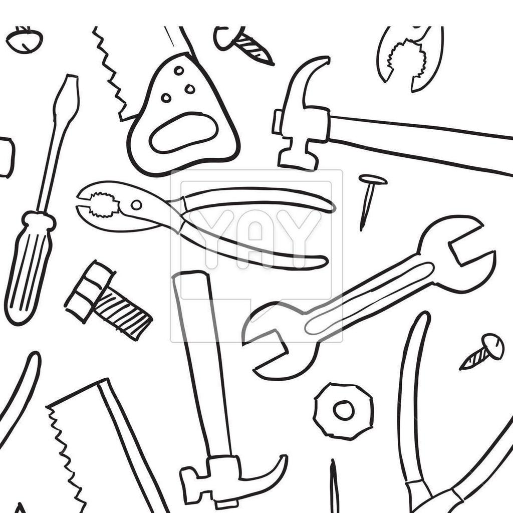 carpenter tools coloring pages - photo#5