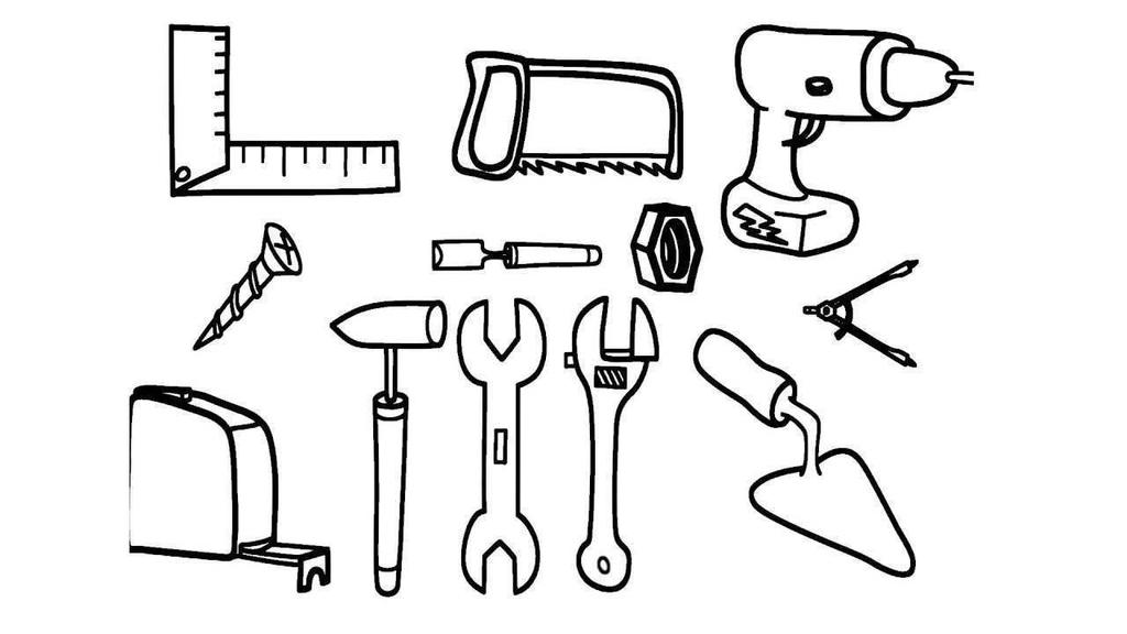 Tools Coloring Pages Power Hand