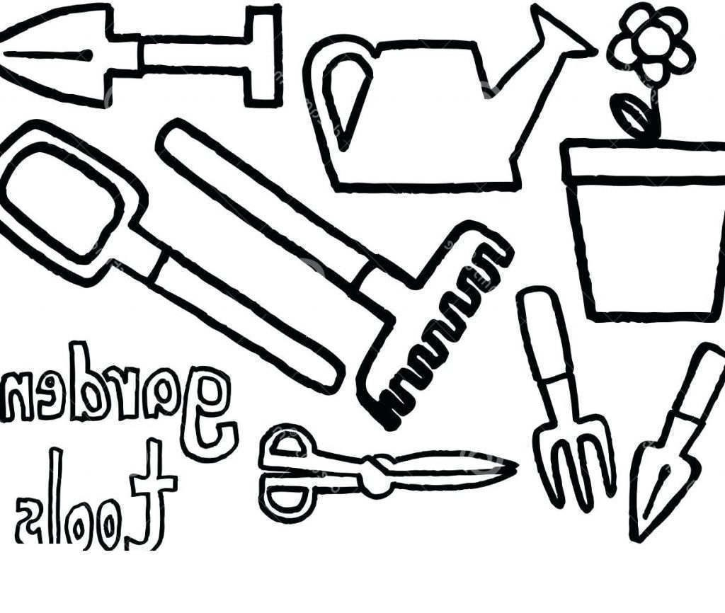 Tools Coloring Pages Ol Collage Hand Drawing Free