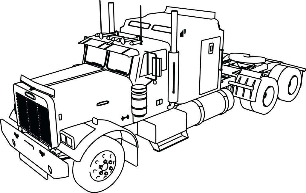 cattle trailer coloring pages - photo#42