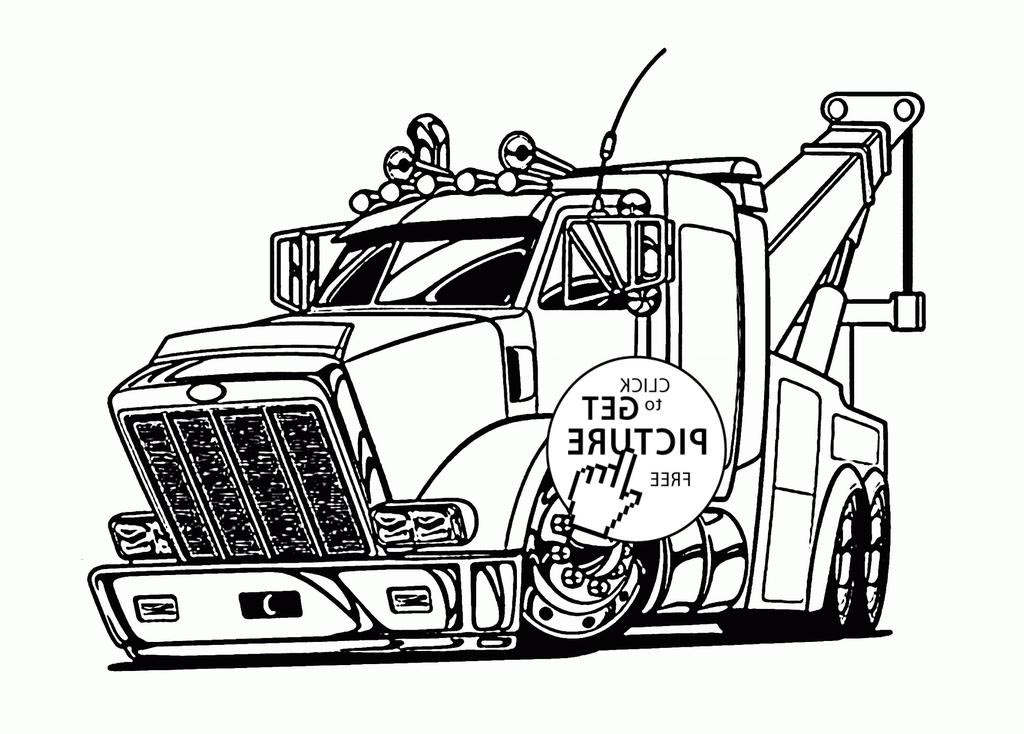 Truck And Trailer Coloring Pages Mail Inspirational Images