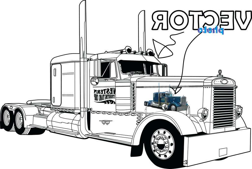coloring pages of semi trucks - photo#17