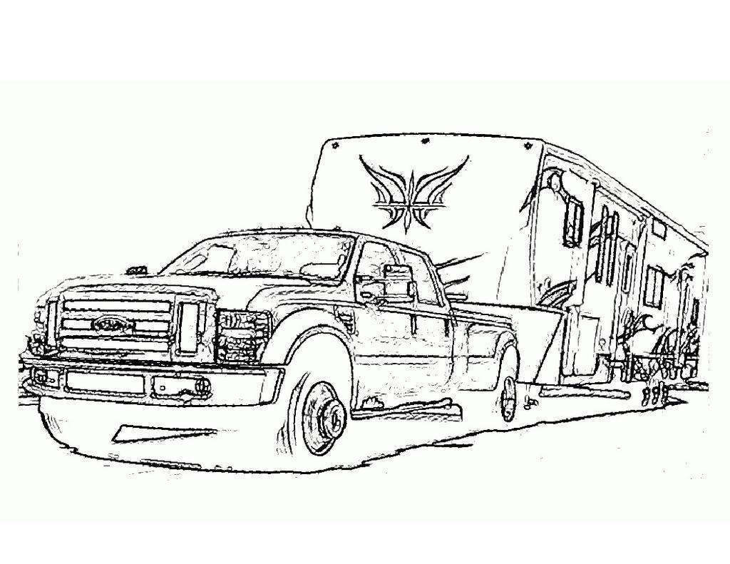 truck and trailer coloring pages unique camper coloring