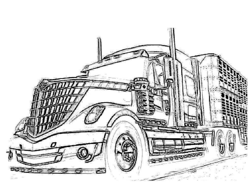 truck trailer coloring pages - photo#19