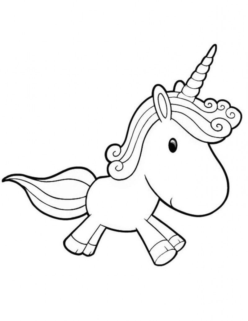 Free Unicorn Coloring Pages Baby Kids for Kids printable