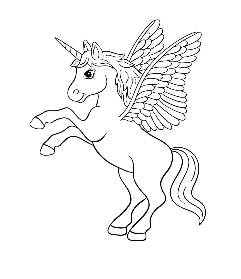 Free Unicorn Coloring Pages Kids Images printable