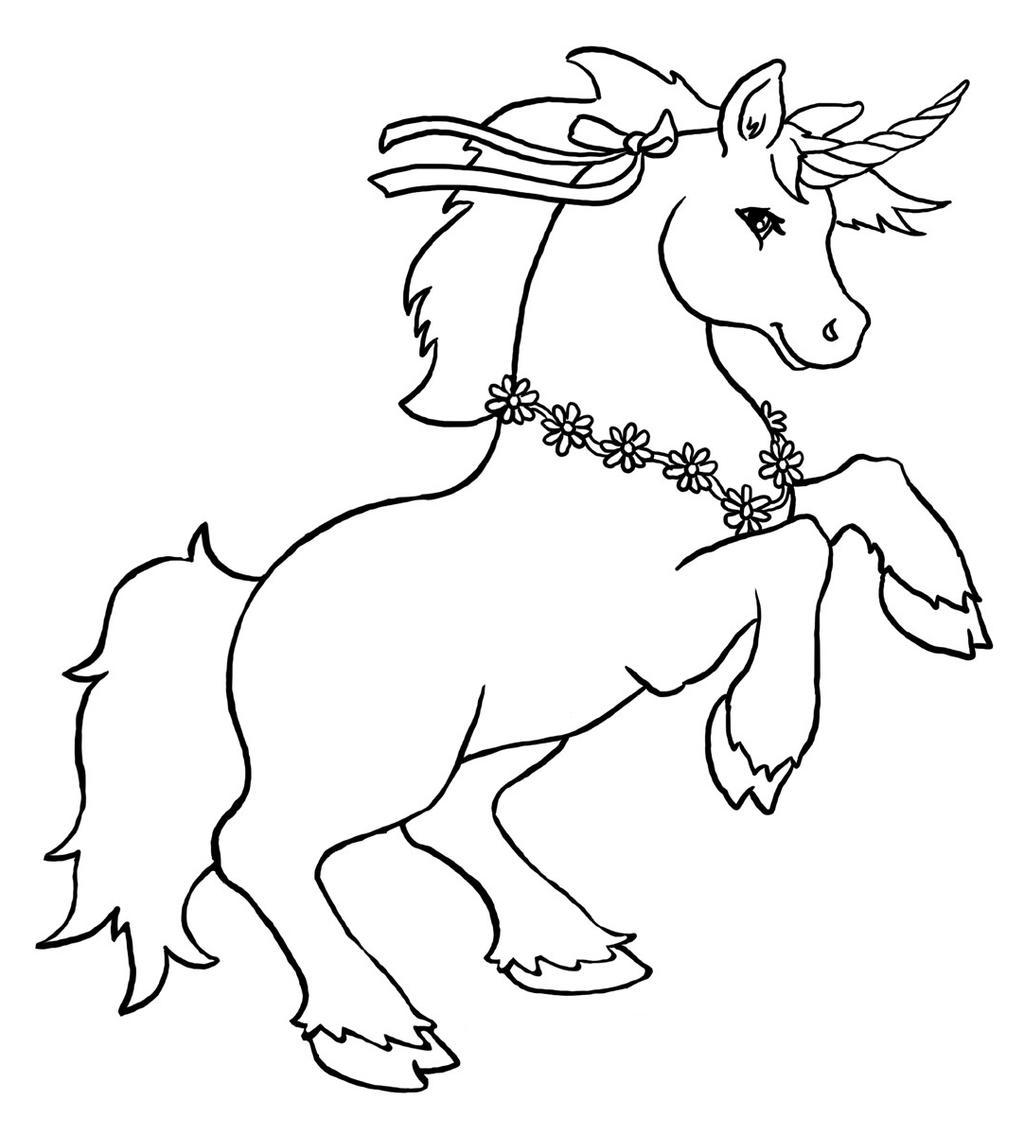 Unicorn Coloring Pages Kids Lineart Free Printable Coloring Pages