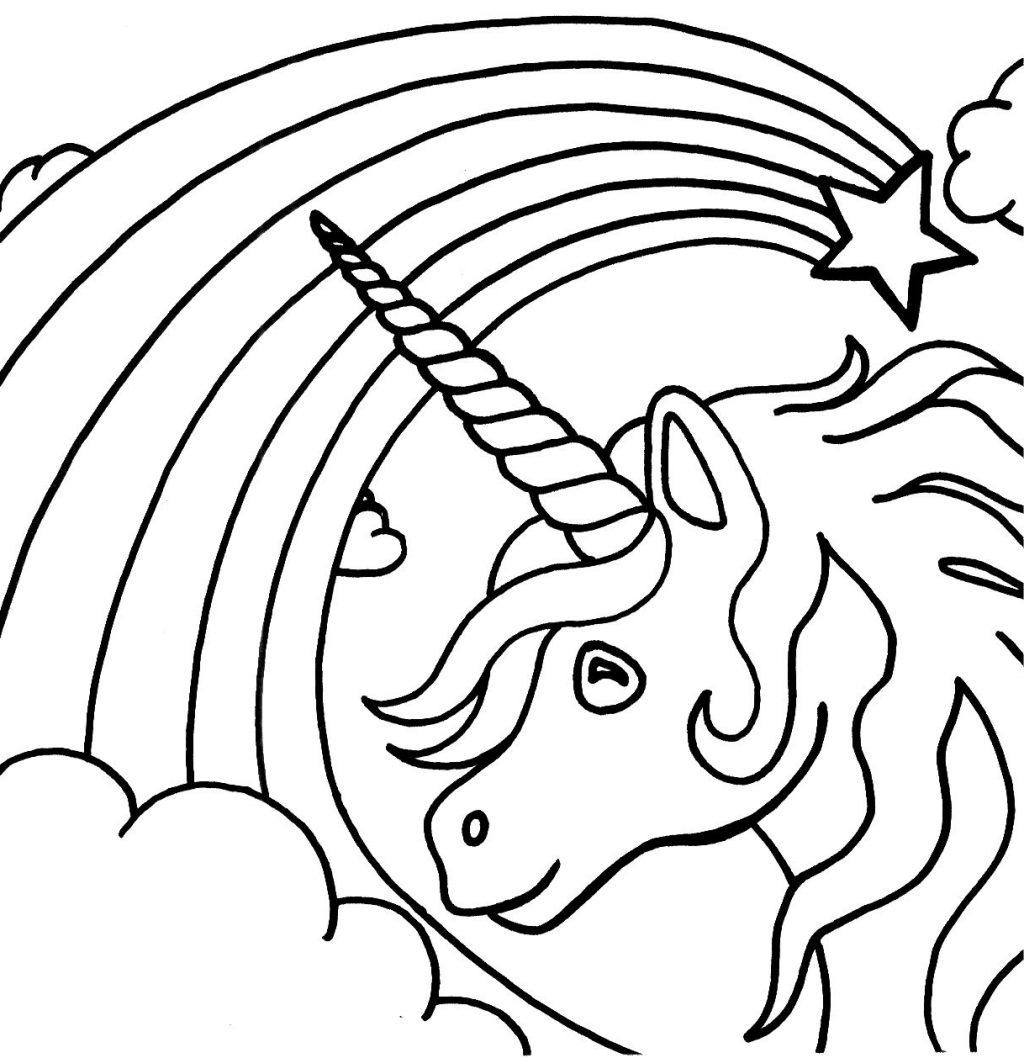 Free Unicorn Coloring Pages Kids Useful Clipart printable