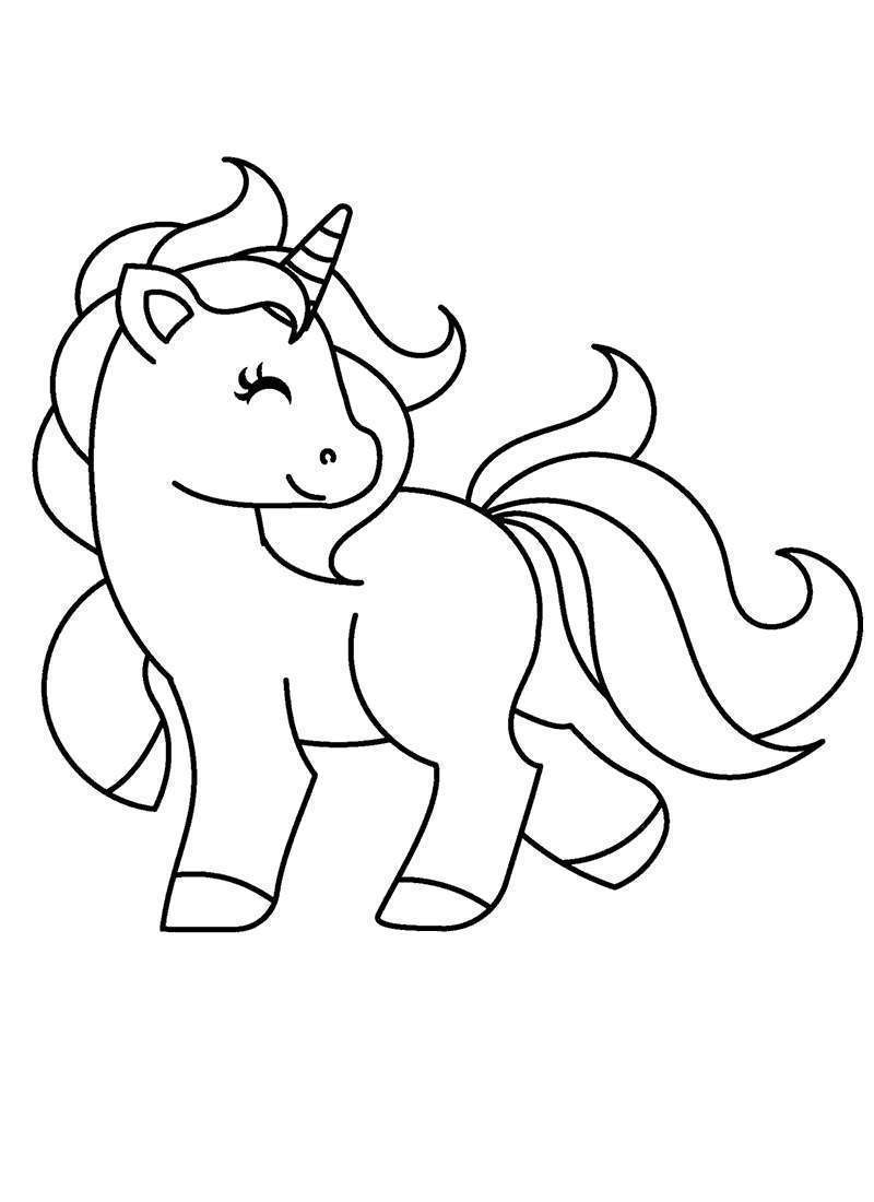 Unicorn coloring pages my little pictures
