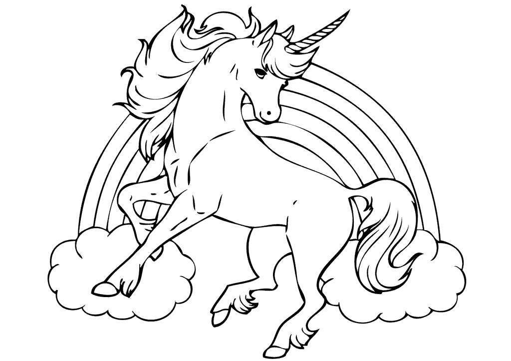 Free Unicorn Coloring Pages Obsession And Hand Drawing printable