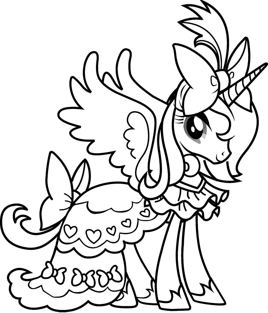 Free Unicorn Coloring Pages  Outline printable